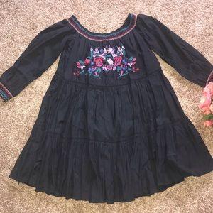 Free People Mini Embroidered Dress